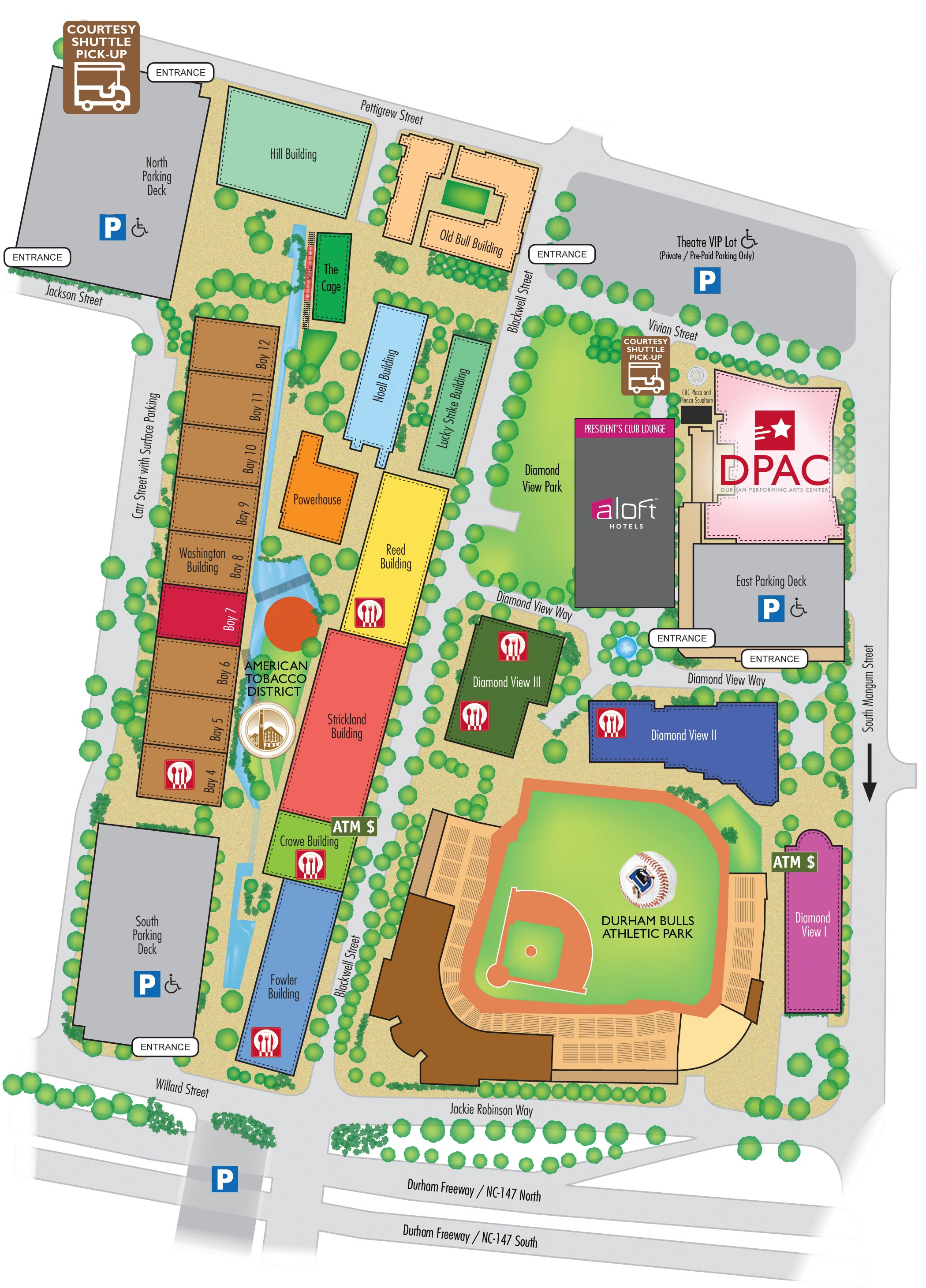 DPAC | Durham Performing Arts Center Area Map | DPAC Official Site