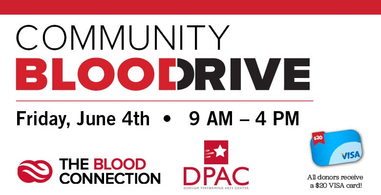 More Info for DPAC Announces Date for Summer Blood Drive