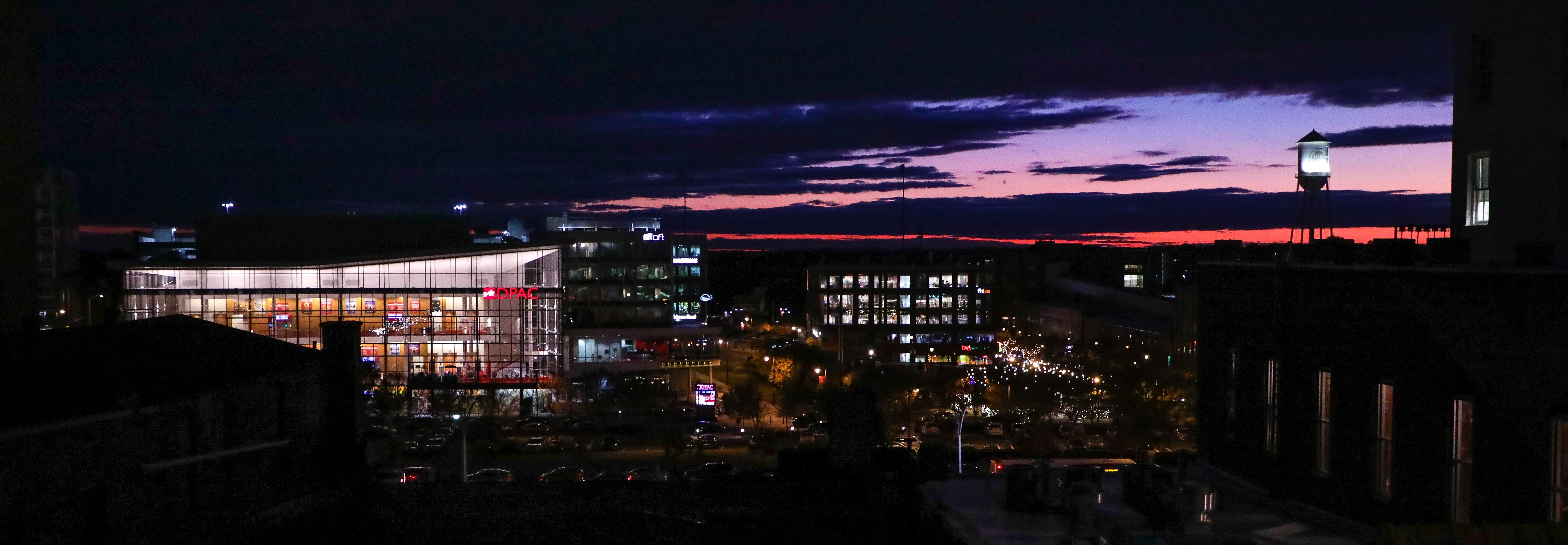 DPAC amidst Durham Skyline HuthPhoto
