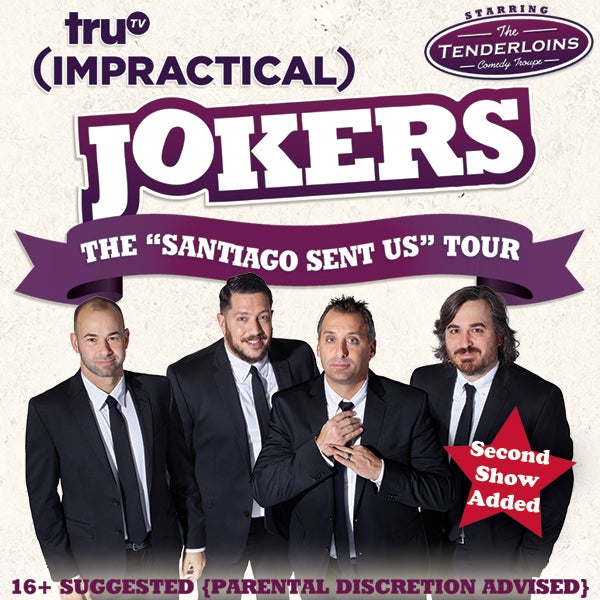 Impractical jokers starring the tenderloins dpac official site m4hsunfo
